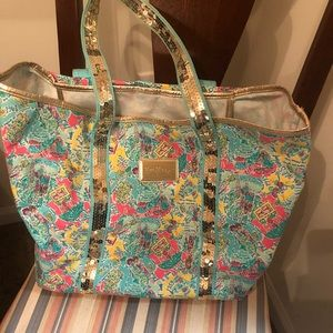 Lilly Pulitzer Sparkle Tote Beach Bag